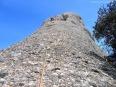 El habitual grado de exposición de los primeros largos en Montserrat no iba a ser una excepción en la Bitlla.