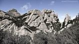 Panorámica de la región de Ecos, con la característica Roca Plana Dels Llamps a la izquierda.